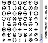vector stripes circular. font... | Shutterstock .eps vector #283587101