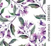 Weigelas Flower Seamless Pattern