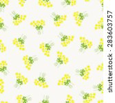 seamless pattern with chamomile ... | Shutterstock .eps vector #283603757