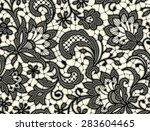 black lace. seamless pattern.... | Shutterstock .eps vector #283604465