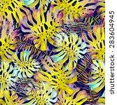 beautiful watercolor seamless... | Shutterstock . vector #283604945