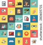 set of business concepts... | Shutterstock . vector #283605731