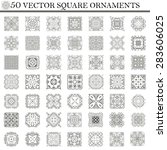 vector set of symbols. abstract ... | Shutterstock .eps vector #283606025