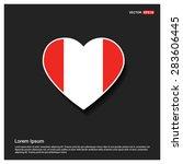 heart shape austria flag   Shutterstock .eps vector #283606445