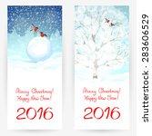 festive greeting cards for...   Shutterstock .eps vector #283606529