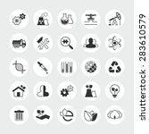 industry and ecology total ... | Shutterstock . vector #283610579