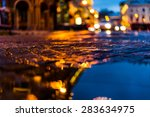 the bright lights of the... | Shutterstock . vector #283634975