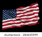 waving flag of the usa from a... | Shutterstock . vector #283635599