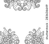 black flower frame  lace... | Shutterstock .eps vector #283636649