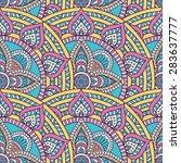 seamless pattern. vintage... | Shutterstock .eps vector #283637777