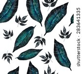 vector watercolor exotic...   Shutterstock .eps vector #283641335