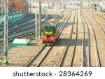 locomotive on big railway... | Shutterstock . vector #28364269