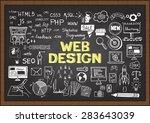 doodles about web design on... | Shutterstock .eps vector #283643039
