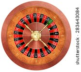 casino roulette isolated on... | Shutterstock . vector #283643084