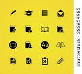 books icons universal set for... | Shutterstock . vector #283654985