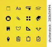 books icons universal set for... | Shutterstock . vector #283654994