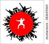 silhouette of sports men .... | Shutterstock .eps vector #283655465