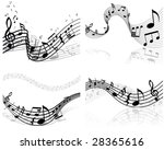 musical designs sets with... | Shutterstock .eps vector #28365616