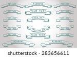 vector line ribbons | Shutterstock .eps vector #283656611