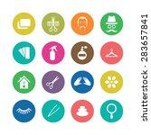 barbershop icons universal set... | Shutterstock . vector #283657841