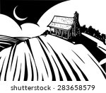 woodcut style image of a log... | Shutterstock .eps vector #283658579