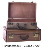 stack of two vintage suitcases... | Shutterstock . vector #283658729