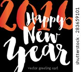 happy new year. | Shutterstock .eps vector #283659101