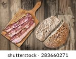 Three Bacon Rashers On Old...