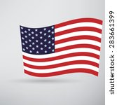 america flag icon | Shutterstock .eps vector #283661399