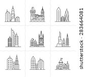 cityscape icons. urban city and ... | Shutterstock .eps vector #283664081