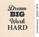 retro typographic poster design ... | Shutterstock .eps vector #283671875