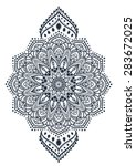 ornament black white card with... | Shutterstock .eps vector #283672025