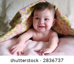 cute baby poking out of blanket | Shutterstock . vector #2836737