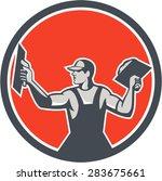 illustration of a plasterer... | Shutterstock .eps vector #283675661