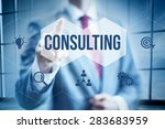 business consulting concept ... | Shutterstock . vector #283683959
