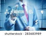 business mentor concept ... | Shutterstock . vector #283683989