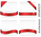 glossy ribbon banners   set of...   Shutterstock .eps vector #283685225