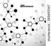 molecule dna. abstract... | Shutterstock .eps vector #283695347
