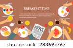 cooking and food web banner... | Shutterstock .eps vector #283695767