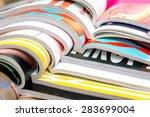 stack of magazines | Shutterstock . vector #283699004