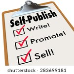 self publish words on a... | Shutterstock . vector #283699181