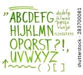 hand drawn marker artistic font ... | Shutterstock .eps vector #283700081