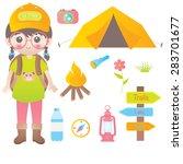 camping | Shutterstock .eps vector #283701677