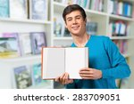 student  american culture  book. | Shutterstock . vector #283709051