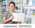 student  american culture  book. | Shutterstock . vector #283709321
