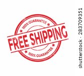 vector free shipping red stamp   Shutterstock .eps vector #283709351