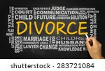 divorce concept with related... | Shutterstock . vector #283721084
