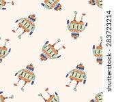 robot   cartoon seamless... | Shutterstock . vector #283723214