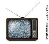 broken retro tv with noise on... | Shutterstock .eps vector #283731911