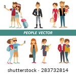 style people and couples vector ... | Shutterstock .eps vector #283732814